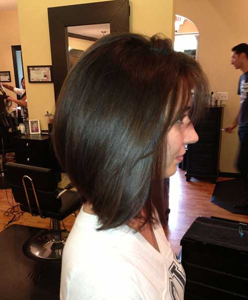 Trendy Long Dark Bob Hairstyles for Thick Hair