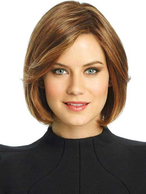 Bob Cut for Round Face with Soft Colors