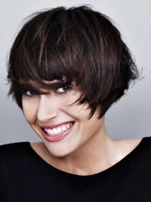 Very Short Dark Bob Haircuts