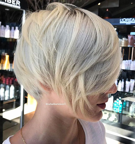 Blonde Bob Layered Pixie