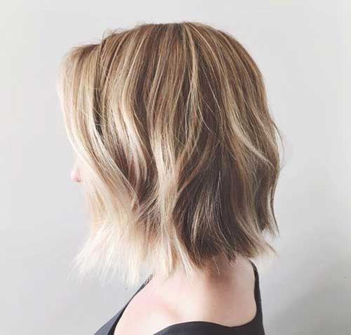 Casual Choppy Short Blonde Bob Hairstyles