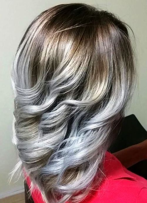 20 Ideas to Have Sliver and White Highlighted Hair Looks