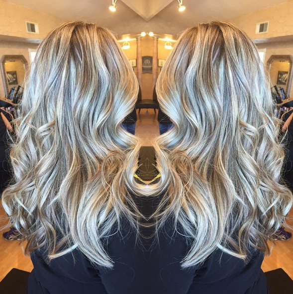 Balayage Hair Styles for Curly Long Hair