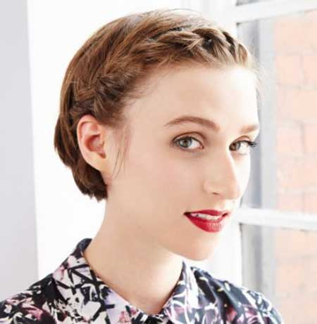 Twisted Braid Hairdo for Girls with Short Hair