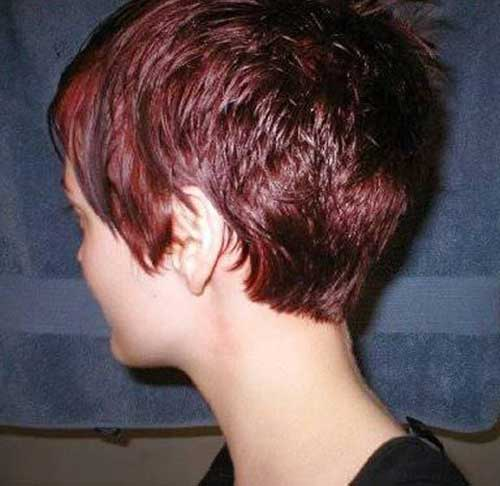 Short Pixie Cut From The Back