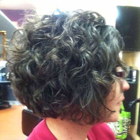 Curly Hair Gray Thick