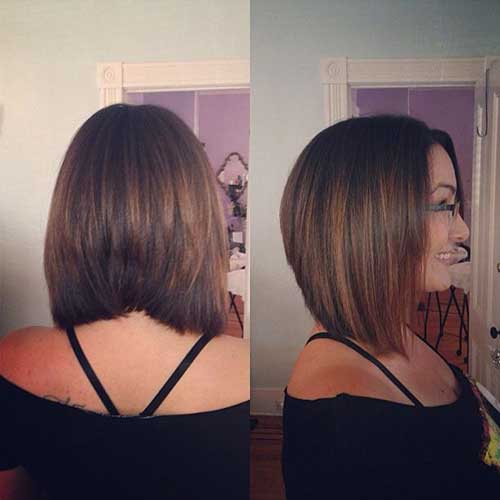 Graduated Brown Bob Hair