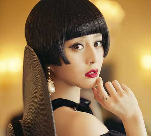 Blunt Short Chinese Bob Hairstyles