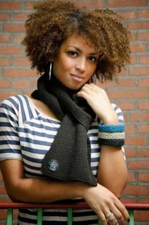 Short Curly Afro Hairstyles-11