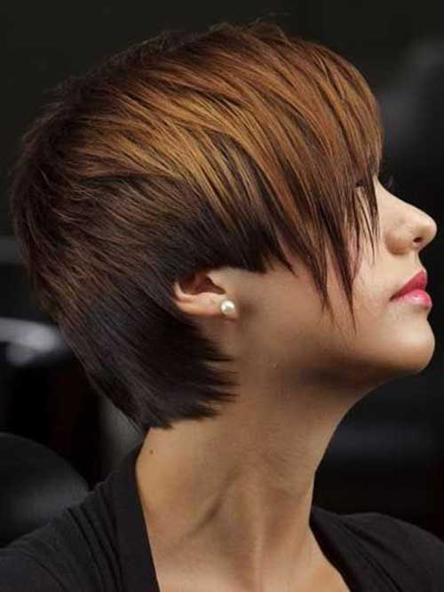 Short Brown Pixie Hairstyles