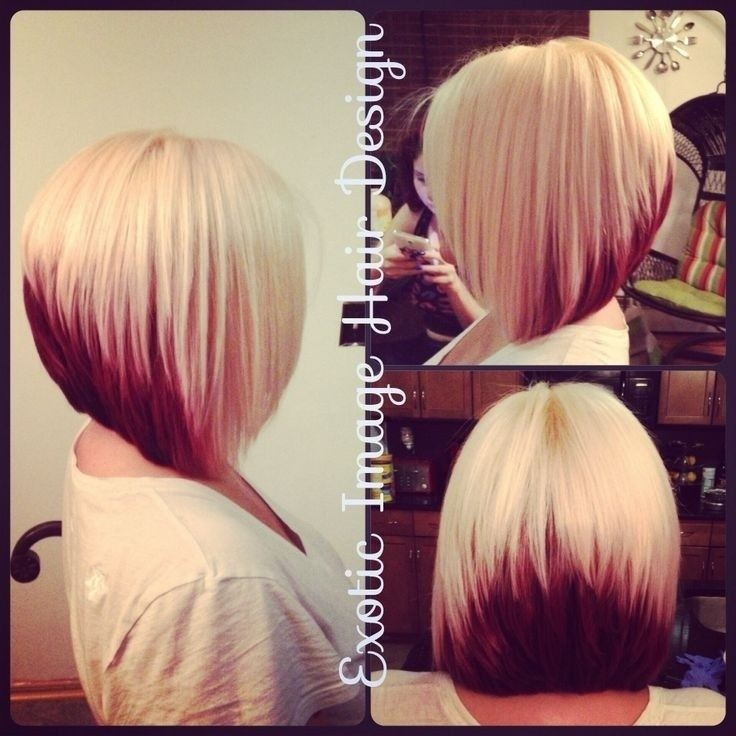 Stacked Medium Bob - Ombre-Frisuren für glattes Haar