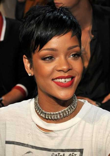 Rihanna Short Pixie Cut