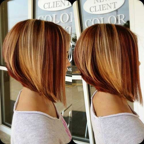 Ladies Highlighted Hairstyles Bobs
