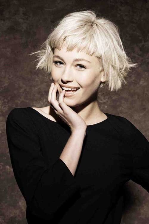 Cropped Messy Bob Hairstyles