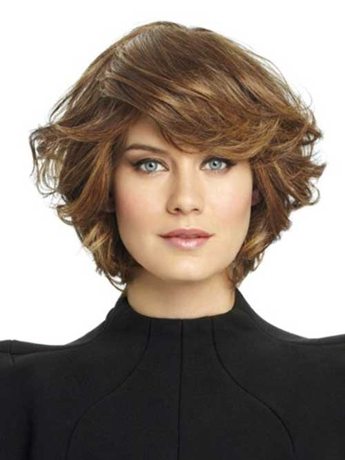 Layered Bangs Bob Hairstyles For Round Faces