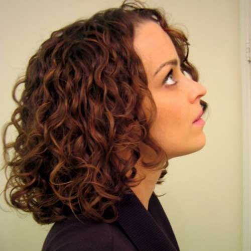 Mid Length Curly Bob Hairstyles
