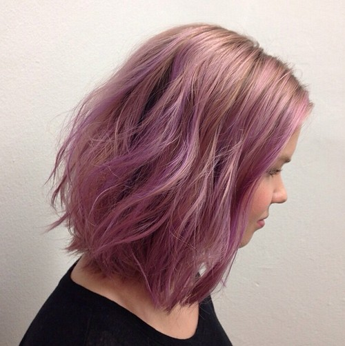 Try A New Pastel Tone for Bob Hairstyle - Long Bob 2018