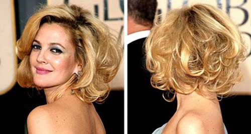 Thick Blonde Curled Bob Hairstyles
