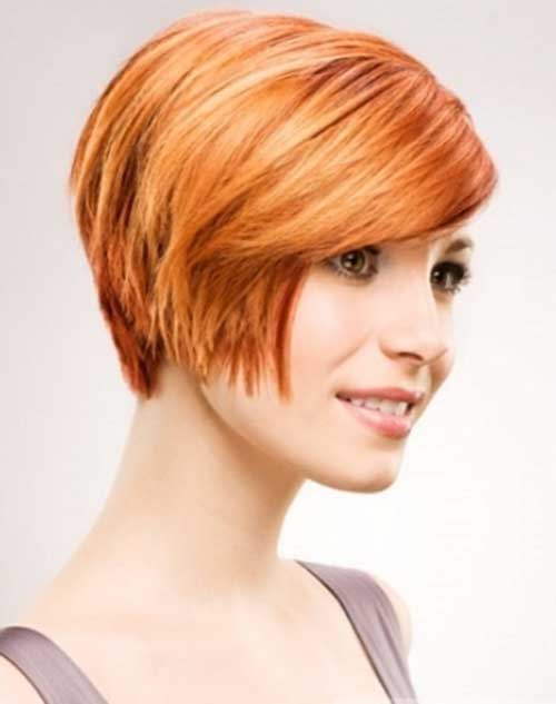 Cute Layered Bob Haircuts for Oval Faces