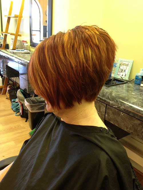 Highlighted Layered Stacked Bob Hairstyles