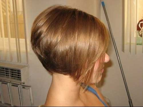 Graduated Brown Bob Fine Hairstyles
