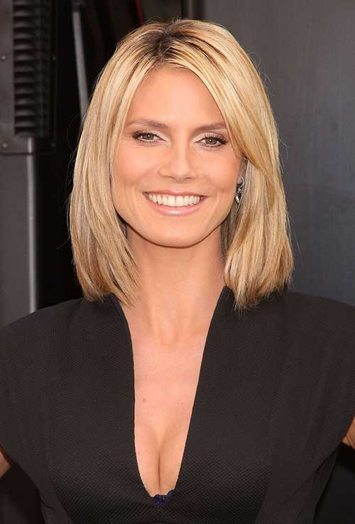 Heidi Klum Choppy Bob Hair