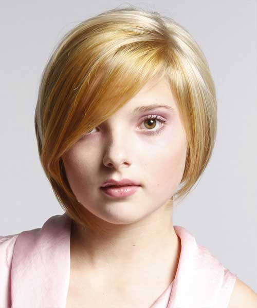 Short Straight Bob Hairstyles 2018 for Round Faces