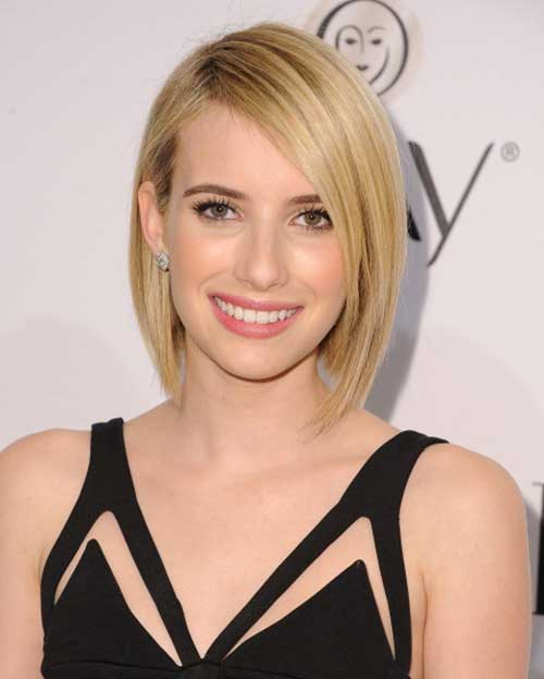 Emma Roberts Hair Cropped Bob