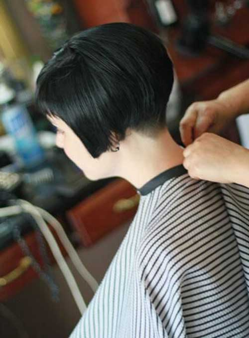 Short Cut Tapered Bob Haircuts