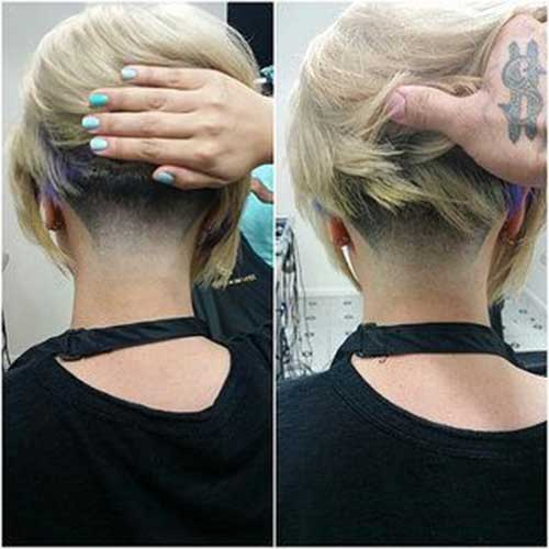 Blonde Bob Tapered Haircuts