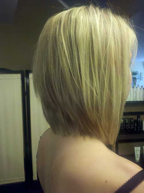 Long Graduated Bob Hairdo