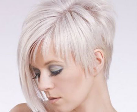 Short Straight Asymmetric Hairstyle