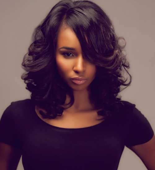 Long Bob Hairstyles for Black Women-7