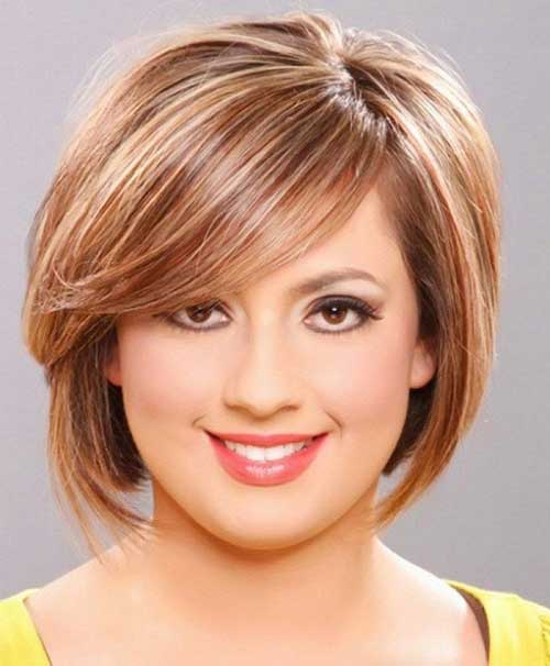 Layered Bob Ideas for Round Faces