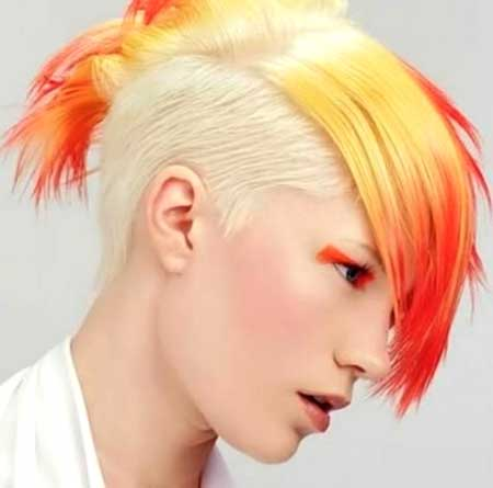 The Colored Undercut Style with Lazy Mohawk