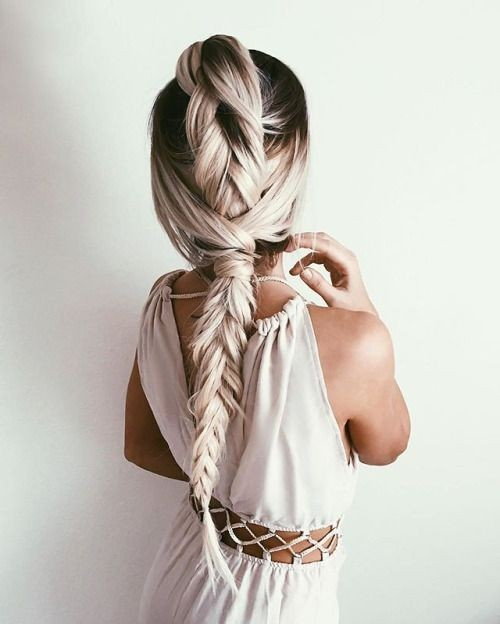 Loose Braided Hairstyle - Ombre Balayage Hairstyle