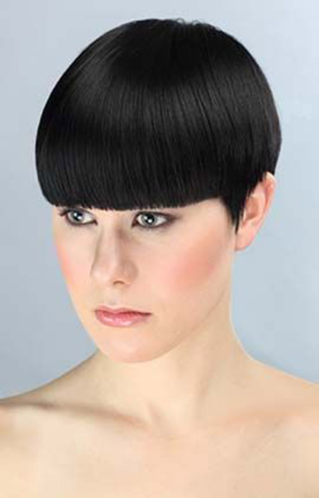 Awesome Sleek Classic Bob Cut with Symmetrical Bangs