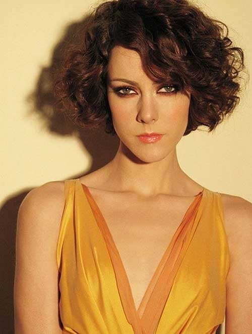 Short Curly Bob Hairstyles Long Face 2018-2018