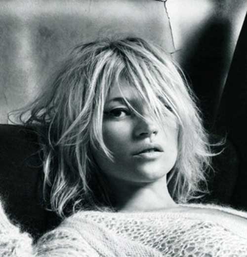 Kate Moss Messy Bob Haircuts