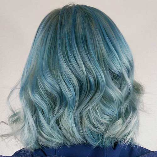 Short Blue Hairstyle