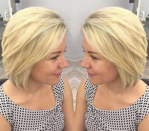 Side Swept Blonde Bob Style Haircuts