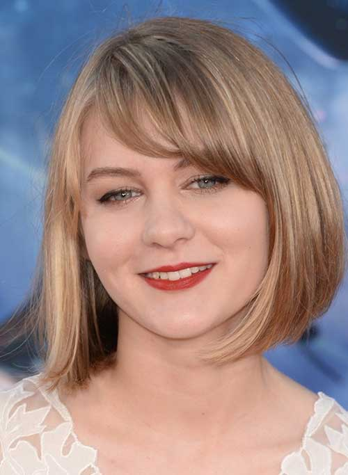 Blonde Bob Cut 2018 for Round Face