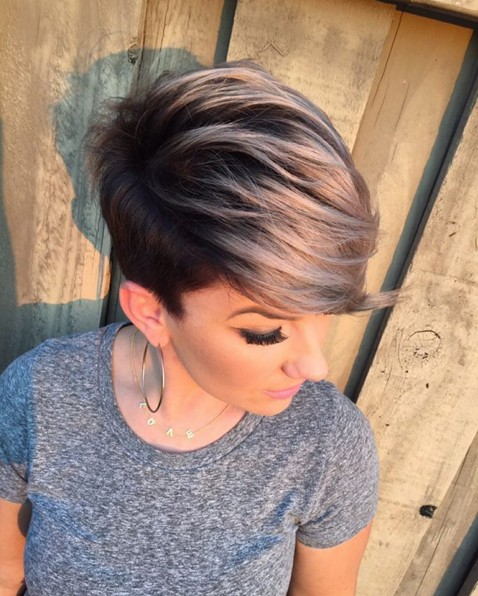 Cute, Short Haircut with Side Bangs - Summer Hairstyles 2018