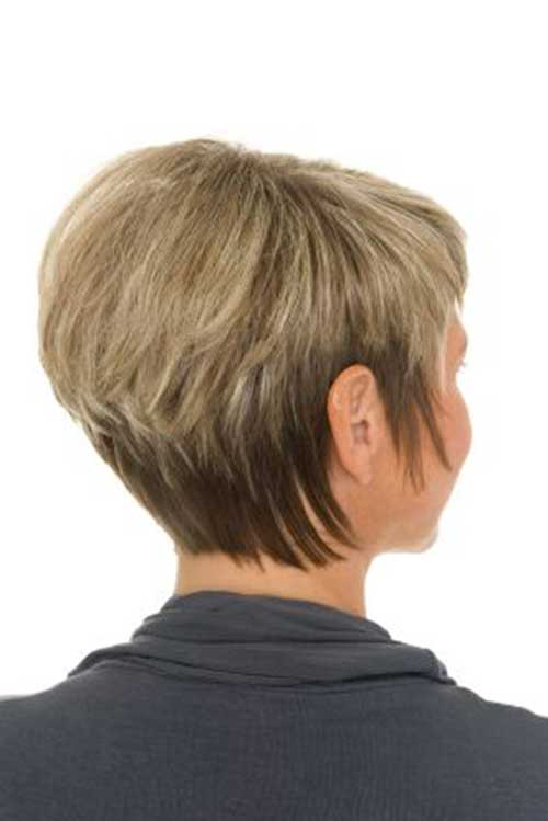 Stacked Bob Fine Hair Back View Look