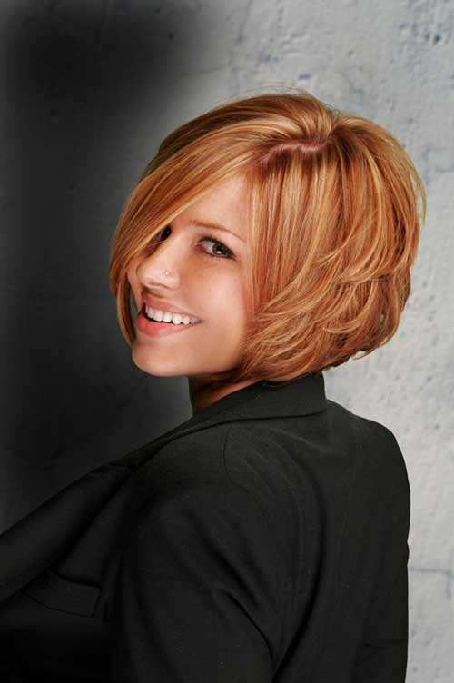 Soft Layered Bob Haircut Pictures
