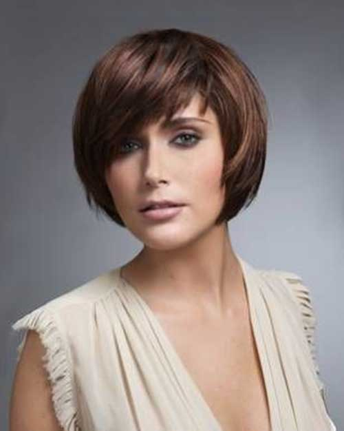 Casual Bobs Cuts for Round Faces 2018
