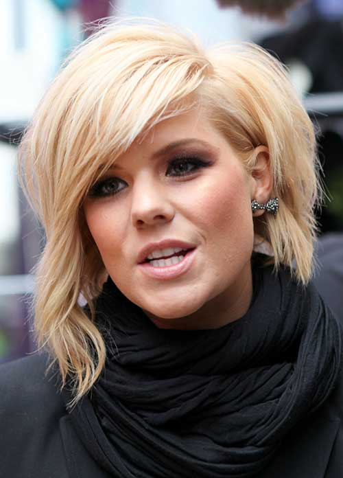 Wavy Side Swept Popular Bob Haircuts