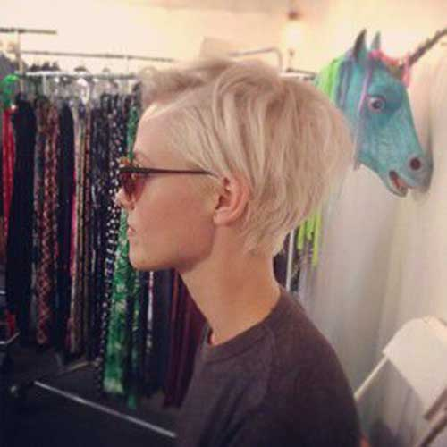 Short Blonde Pixie Hair Cuts