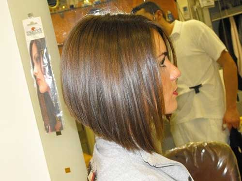 Straight Brown Hair Bob
