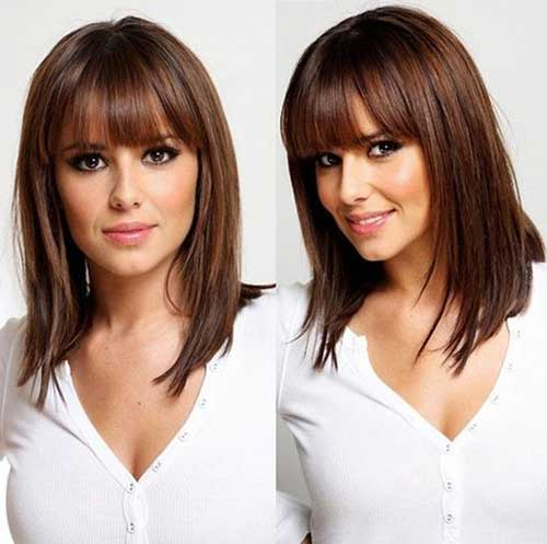 Best Medium Short Haircuts with Bangs